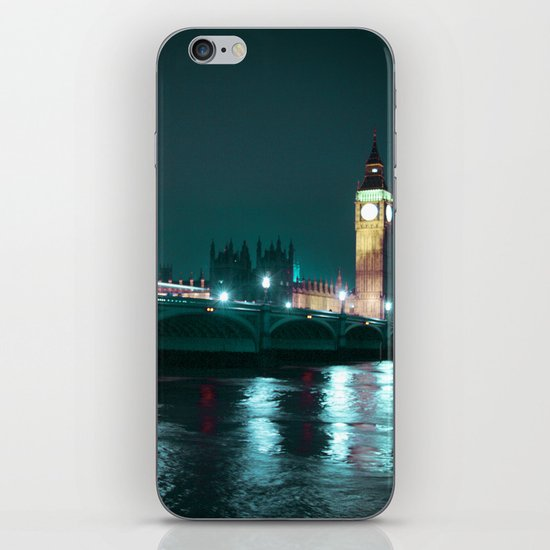 Big Ben and Houses of Parliament, Aquamarine iPhone & iPod Skin