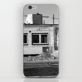 left alone, forgotten home, ruined building, warsaw, poland iPhone Skin