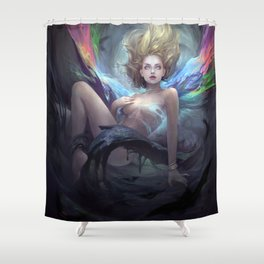 Two Polluted Black-Heart Romances Book CoverArt Shower Curtain