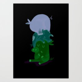 Little pigs Art Print