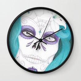 Dia De Los Muertos - Lily Wall Clock