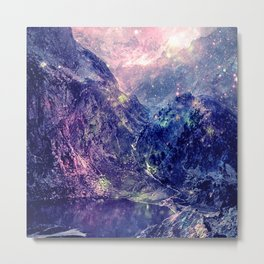 Galaxy Mountains : Deep Pastels Metal Print