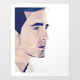 Lee Pace - Low Poly Art Print