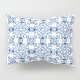 Kitty in a Blue Shoe Square Pillow Sham