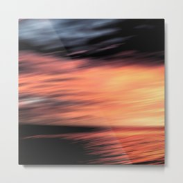 Sunset . Abstraction . Metal Print