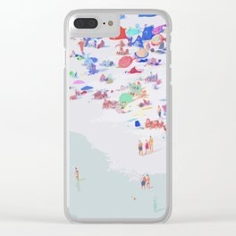 Beach Impression Clear iPhone Case