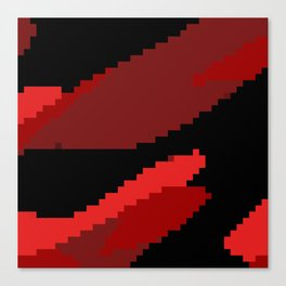 Black and Red abstract Canvas Print