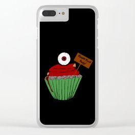 Zombie Cupcake Clear iPhone Case