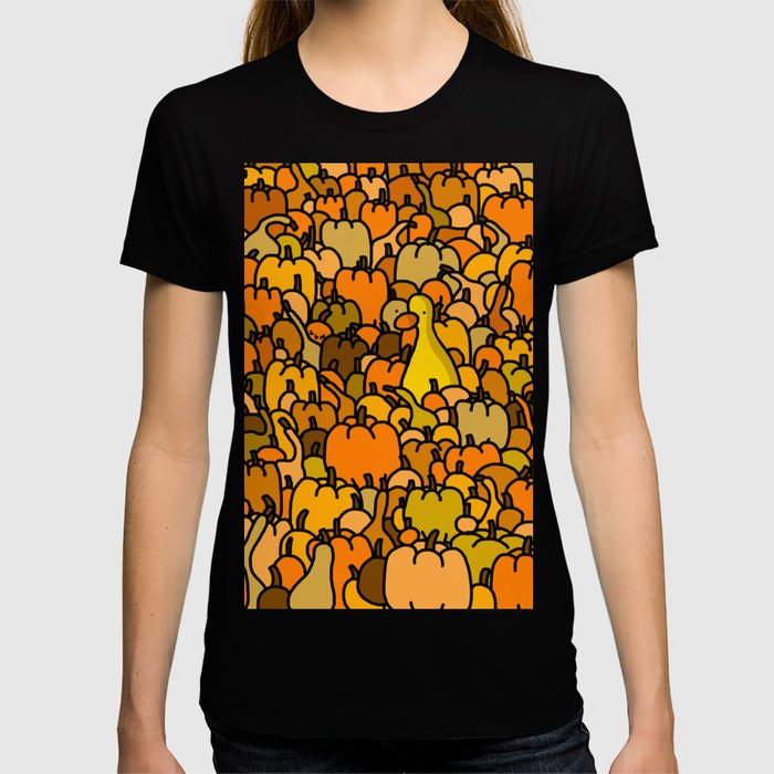 Duck in a Pumpkin Patch T-shirt