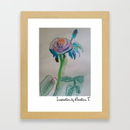 Flower rainbow inspiration modern paintings by Christian T. Framed Art Print