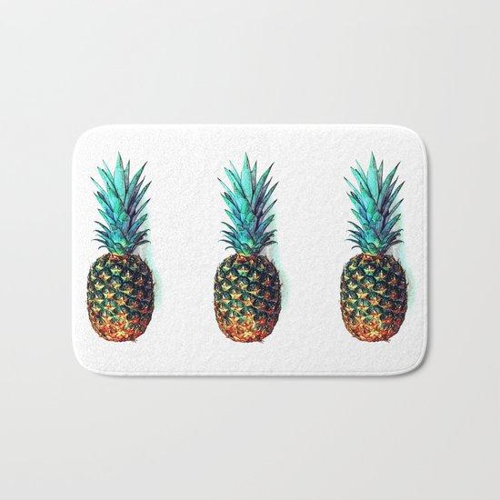 tri soldier pineapples Bath Mat