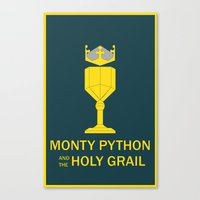 monty python Canvas Prints featuring Monty Python and the Holy Grail by Witty-Wiccan