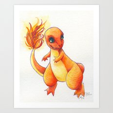 Little Charming Salamander Art Print