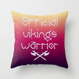 Official vikings warrior Throw Pillow