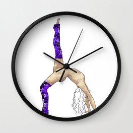 Stretch Purple Wall Clock