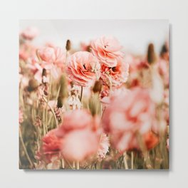 Field of Flowers #pink#flowers Metal Print