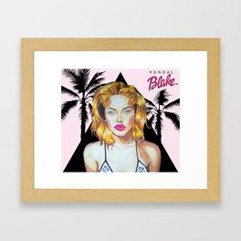 Golden Barbie Framed Art Print