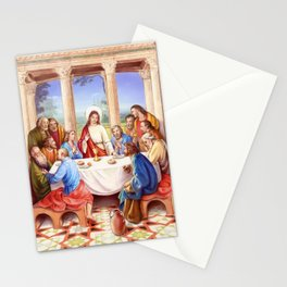 Last supper Stationery Cards