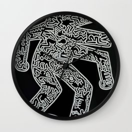Dog inspired to Keith Haring Wall Clock