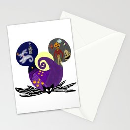 Nightmare Before Christmas Halloween Ears Stationery Cards