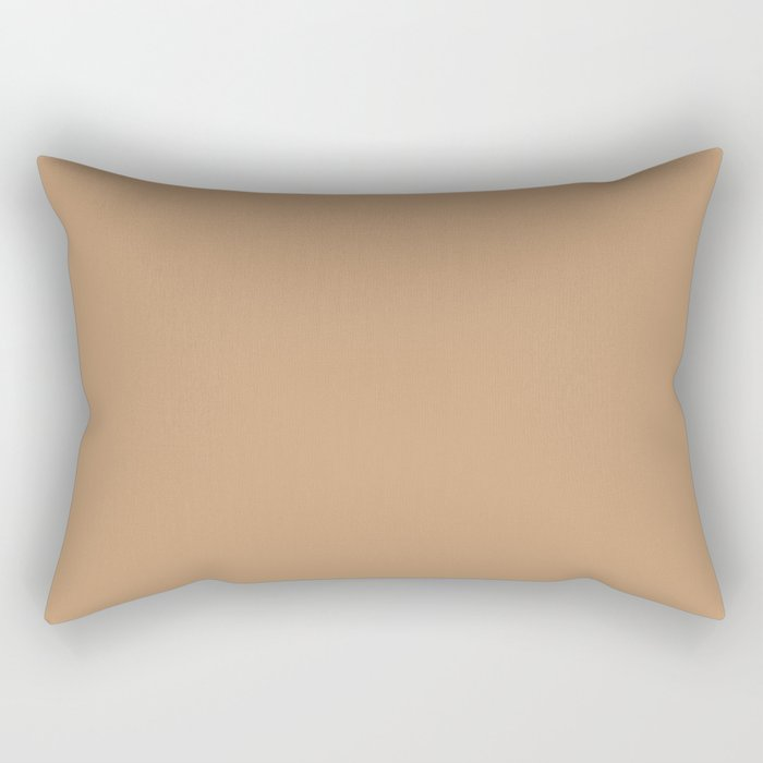 Sherwin Williams Trending Colors of 2019 Caramelized (Light Brown) SW 9186 Solid Color Rectangular Pillow