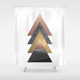 Valley, Scandinavian Modern Abstract Shower Curtain