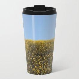 Mustard Flowers Metal Travel Mug