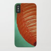 globe iPhone & iPod Cases featuring Red Globe by Charlene McCoy