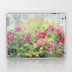 Dreamy Confetti Flower Basket Bouquet -- Whimsical Painterly Abstract Laptop & iPad Skin
