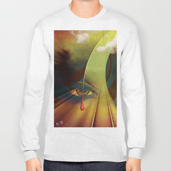 """ Keep an eye on the road ""  Long Sleeve T-shirt"