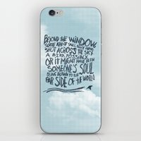 murakami iPhone & iPod Skins featuring BIRD OR SOUL by Josh LaFayette