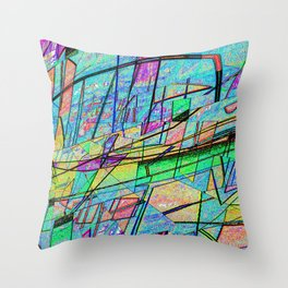 At the Marina Throw Pillow