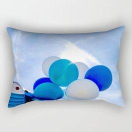 Blue Baloon Rectangular Pillow