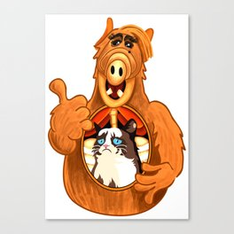 ALF eats Grumpy  Canvas Print