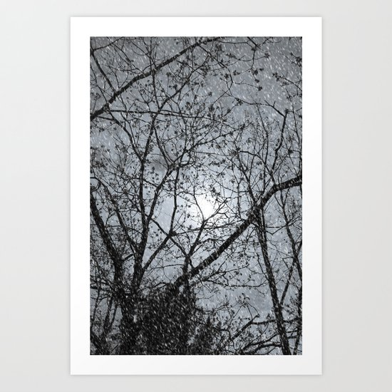 Oh Snowy Night Art Print