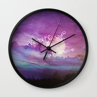 dreamer Wall Clocks featuring DREAMER by Monika Strigel