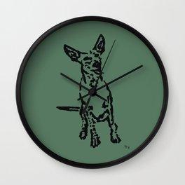 Lajka Podenco 7 Wall Clock