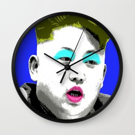 Marilyn Jong Un - Blue Wall Clock