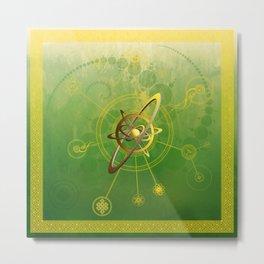 Viridi anu conjunctio spiritualis et luna symbola cum seges circuli Metal Print
