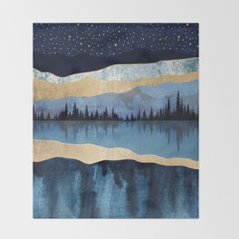 Midnight Lake Throw Blanket