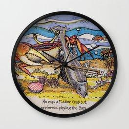 Crab Wall Clock