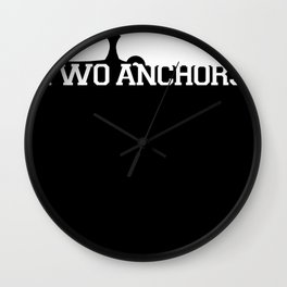 Double Anchor in White Wall Clock