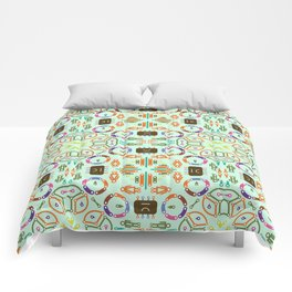 """Seamless pattern in the style of """"printed circuit board"""" Comforters"""