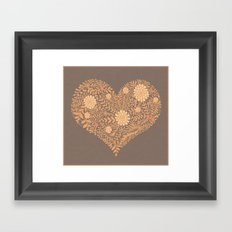 HEART ABSTRACT Framed Art Print