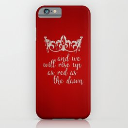 Red as the Dawn iPhone Case