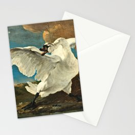 Jan Asselijn - The Threatened Swan Stationery Cards