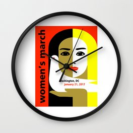 Women's March On Washington 2017 Wall Clock