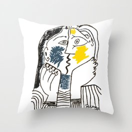 Pablo Picasso Kiss 1979 Artwork Reproduction For TShirts, Framed Prints Throw Pillow