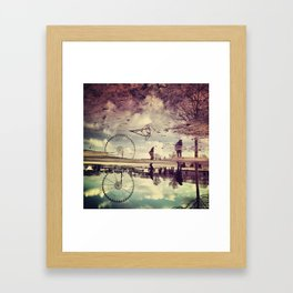 'Cycling Trivialities' Framed Art Print