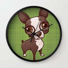 Zippy the Boston Terrier Wall Clock